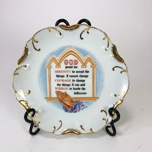 SERENITY PRAYER Plate 18K Gold